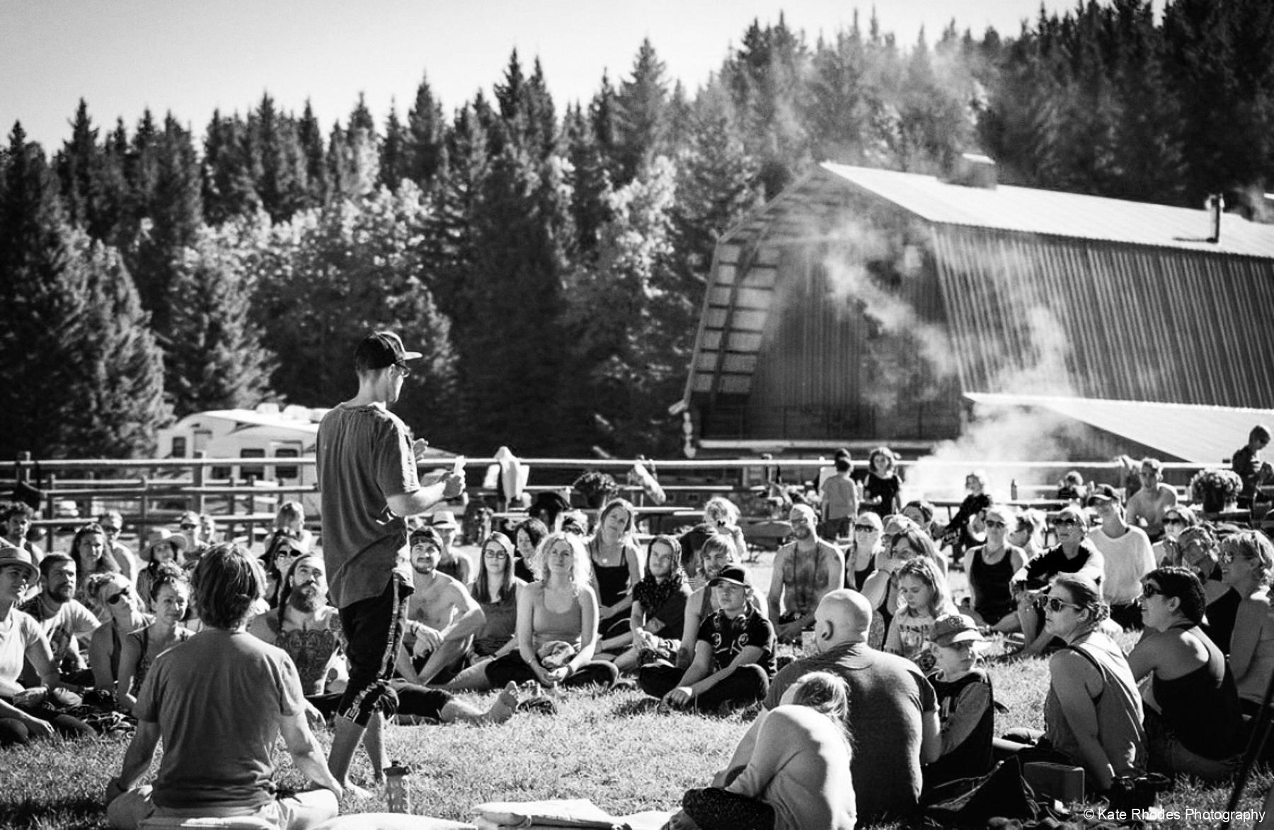 Simon Calnan Speaking at Sheek Creek Yoga Collective